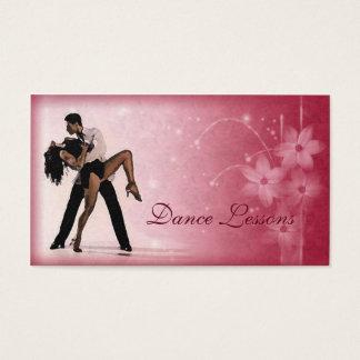 Rosa Blumen-Paar-Tanz-Studio-Geschäfts-Karte Visitenkarte