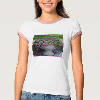 Rosa Blumen-Pflanzer T T-Shirt