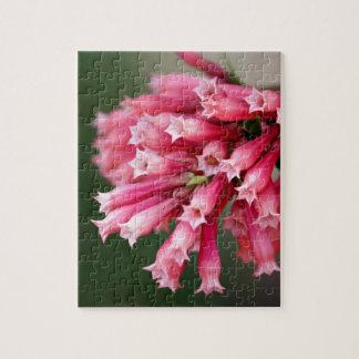Rosa Blumen-Puzzlespiel Puzzle