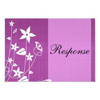 Rosa Blumen-Schmetterling der 8,9 X 12,7 Cm Einladungskarte