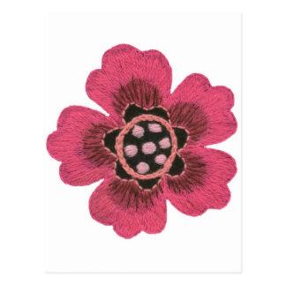 Rosa Blumen-Set Postkarte