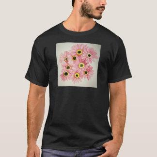 Rosa Blumen-Shirt T-Shirt