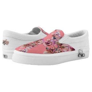 Rosa Blumen Slip-On Sneaker