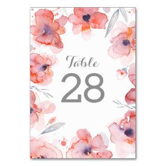Rosa BlumenAquarell-Kranz-Hochzeit Karte