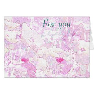 Rosa Blumenbild-Grußkarte Teil 1 Karte