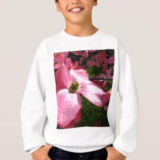 Rosa Blumenblätter Sweatshirt