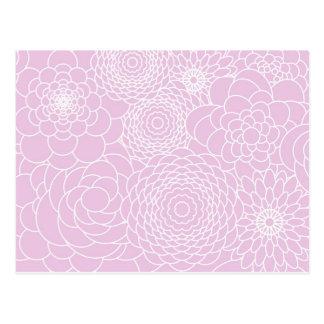 Rosa Blumenentwurfs-moderne abstrakte Blumen Postkarte