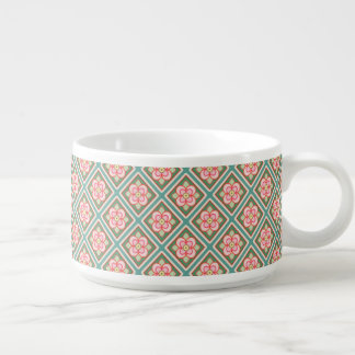Rosa Blumengitter-Vintages Blumen-Muster Schüssel