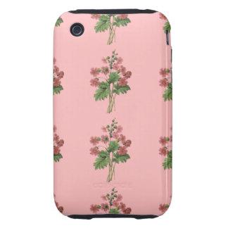 Rosa BlumenMobiltelefon-Kasten iPhone 3 Tough Hüllen