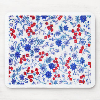 Rosa Blumenmuster-Kunst-Glühen-Steigungs-Digital-K Mousepad