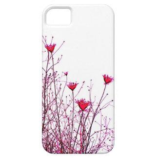rosa Blumenneonentwurf Hülle Fürs iPhone 5
