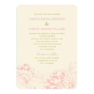Rosa Blumenpfingstrosen-Entwurf der Individuelle Ankündigungen