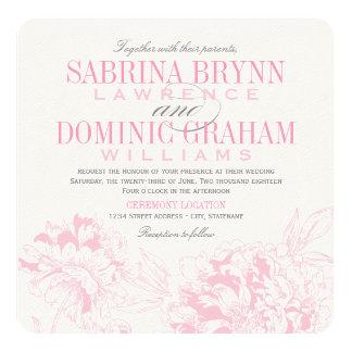 Rosa Blumenpfingstrosen-Entwurf der Individuelle Ankündigungskarte
