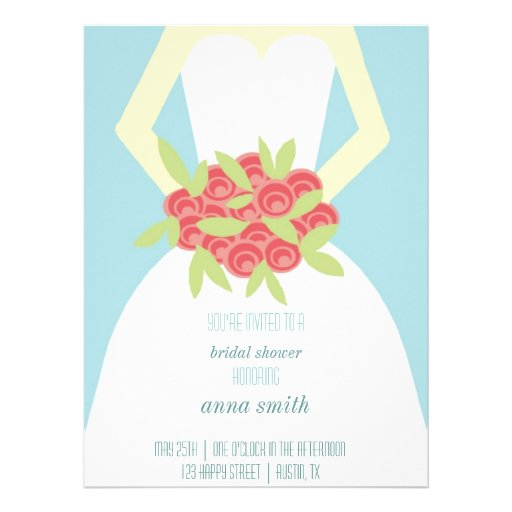 Rosa Blumenstrauß-Brautparty-Einladung