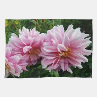 Rosa Blumenteetuch Geschirrtuch