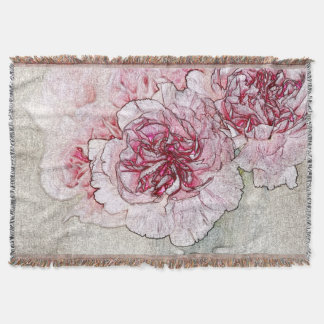 Rosa Blumenthrow-Decke Decke
