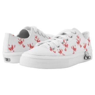 Rosa Blumenturnschuhe Niedrig-geschnittene Sneaker