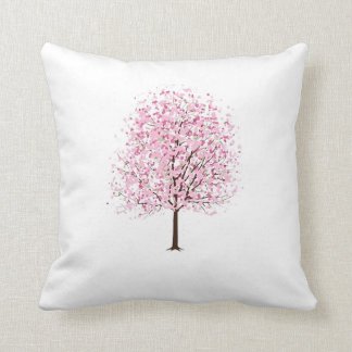 Rosa Blüten-Baum-Kissen Kissen