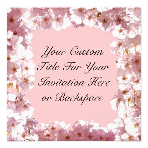 Rosa Blüten-Einladungen personalisierte UAWG