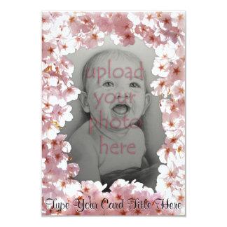 Rosa Blüten-Einladungen personalisierte UAWG 8,9 X 12,7 Cm Einladungskarte
