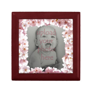 Rosa Blüten-Geschenkboxen-personalisierte Blumen-K