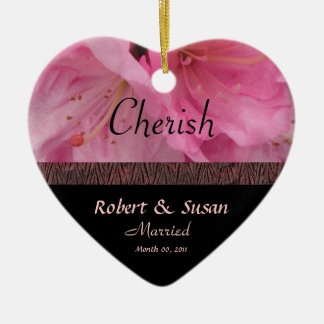 Rosa Blüten-Hochzeits-Andenken-Verzierung Ornament