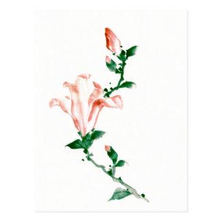 Rosa Blüten, Hokusai Japaner-schöne Kunst Postkarte