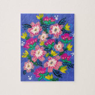 Rosa Blüten-Puzzlespiel Puzzle