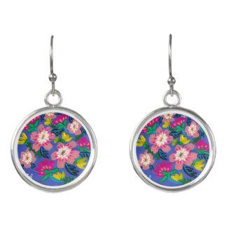 Rosa Blüten-Tropfen-Ohrringe Ohrringe