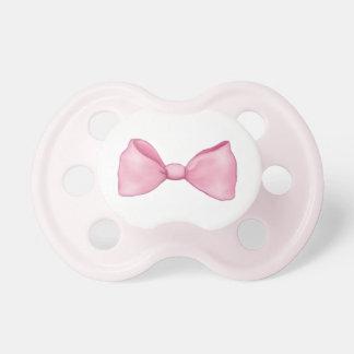 Rosa Bogen-Baby-Mädchen-Schnuller Schnuller