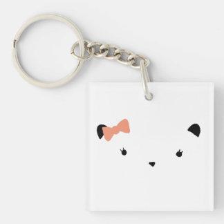 Rosa Bogen-Bär Schlüsselanhänger