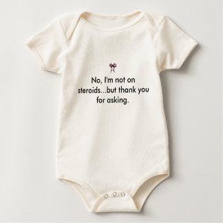 Rosa Bogen, nein, bin ich, nicht auf Steroiden… Baby Strampler
