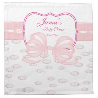 Rosa Bogen-und Blasen-Babyparty Bedruckte Serviette