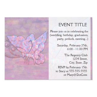 Rosa Bokeh Schmetterling 12,7 X 17,8 Cm Einladungskarte