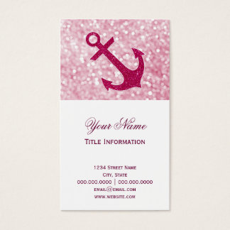Rosa Bokeh SeeGlitter-Anker Visitenkarte