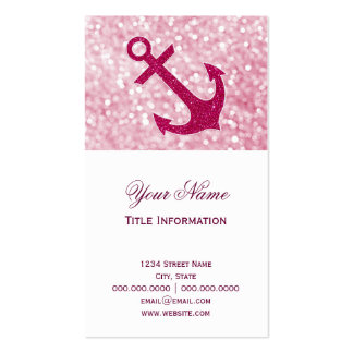 Rosa Bokeh SeeGlitter-Anker Visitenkarten