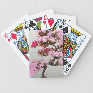 Rosa Bonsais-Baum Bicycle Spielkarten