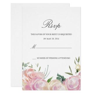 Rosa botanische | Wartekarte Karte
