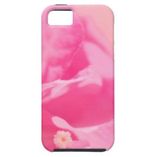 Rosa Bouganvilla-Blätter und Blumen-Nahaufnahme Tough iPhone 5 Hülle