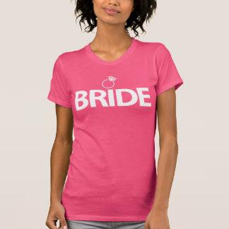 Rosa Braut-Shirt mit Ring für T-Shirt