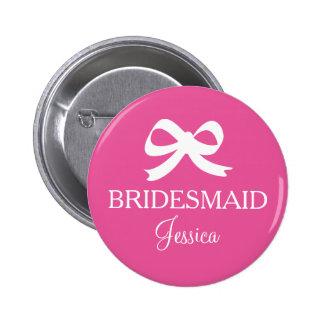 Rosa Brautjungfern-Abzeichenknöpfe für wedding Runder Button 5,1 Cm