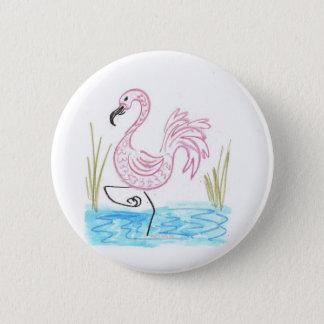 Rosa breiter Internatsschüler des Flamingos 13 Runder Button 5,7 Cm