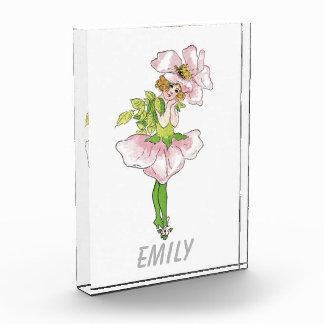 Rosa Briar-Rosen-Blumen-lustiges niedliches mit Acryl Auszeichnung