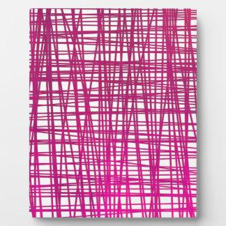 Rosa Brushstroke-Aquarell-Streifen Fotoplatte