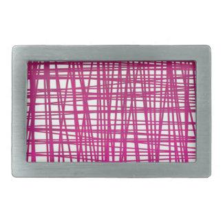 Rosa Brushstroke-Aquarell-Streifen Rechteckige Gürtelschnallen