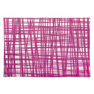 Rosa Brushstroke-Aquarell-Streifen Tischset