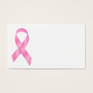 Rosa Brustkrebs Schleife Visitenkarte