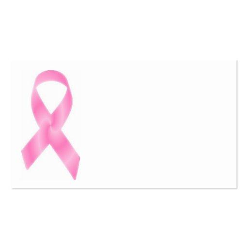 Rosa Brustkrebs Schleife Visitenkartenvorlagen