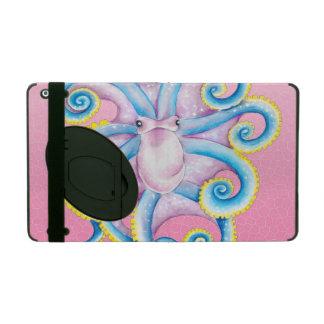 rosa Buntglas der Krake Schutzhülle Fürs iPad