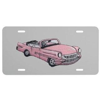 Rosa Cadillac US Nummernschild
